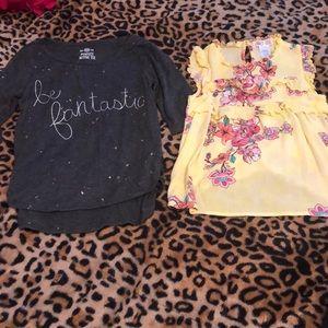 Bundle of (2) girls size spring/summer tops 🌞